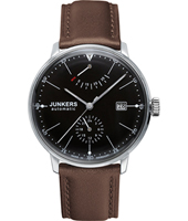6060-2-BROWN Bauhaus 40mm Black automatic design watch with power reserve