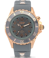 Rosegold Series 40mm Midsize Grey Quartz Diver