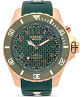 Rosegold Series 48mm Large Green Quartz Diver