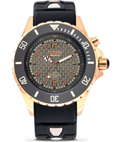Rosegold Series 40mm Midsize Black Quartz Diver