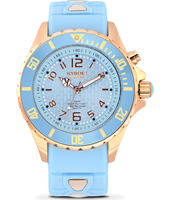 Rosegold Series 40mm Midsize Light Blue Quartz Diver