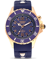 Rosegold Series 40mm Midsize Blue Quartz Diver