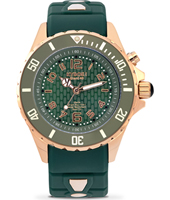 Rosegold Series 40mm Midsize green Quartz Diver