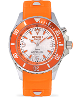Silver Series 40mm Midsize Orange Quartz Diver