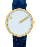 40mm Gold & blue design watch