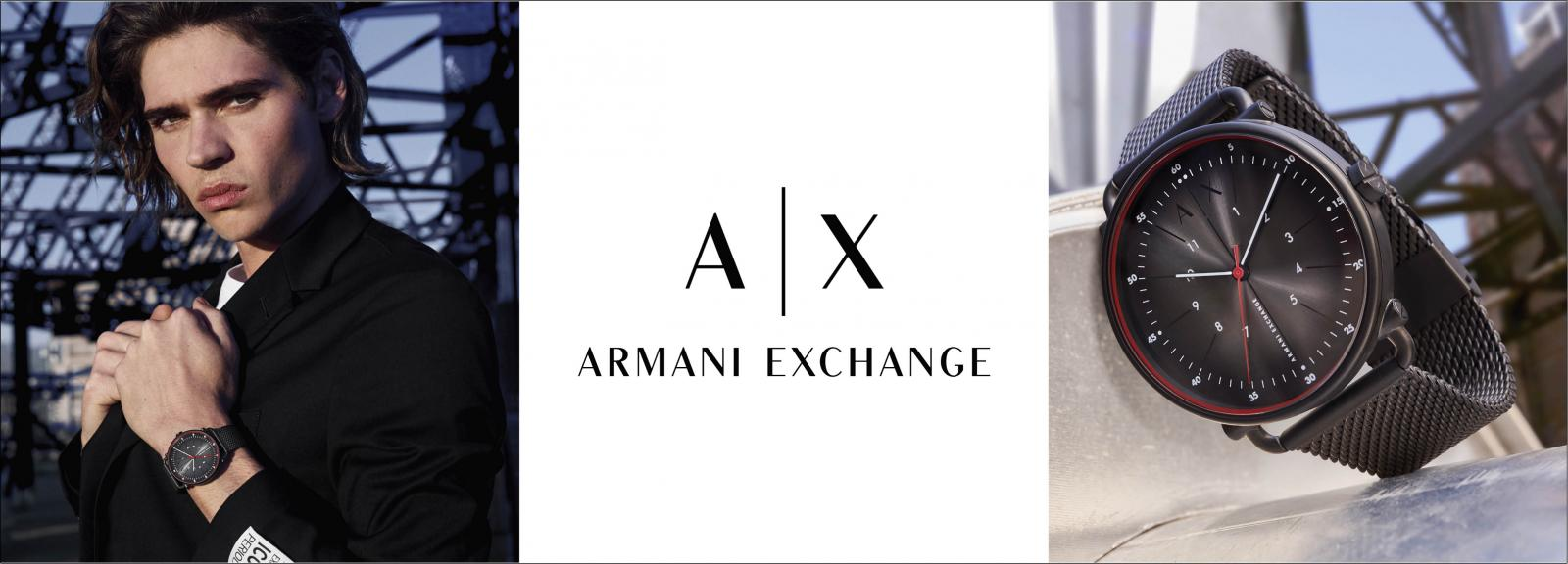 Banner Armani Exchange watches